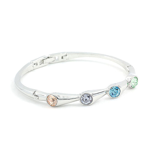 Trendy Bangle with Multi-color Austrian Element Crystals