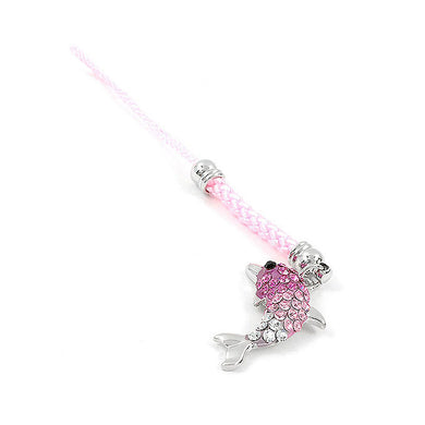 Pink Strap with Dolphin Charm by Pink Austrian Element Crystals