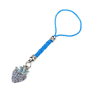 Light Blue Strap with Strawberry Charm by Blue Austrian Element Crystals