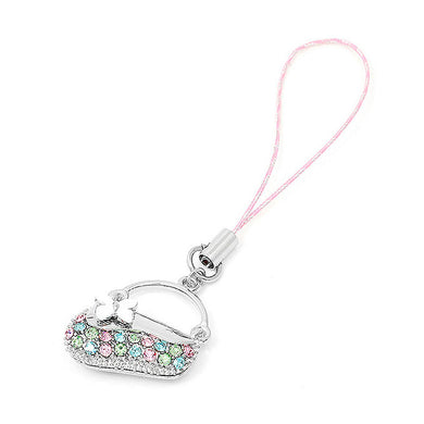 Pink Strap with Handbag in Multi-color Austrian Element Crystals