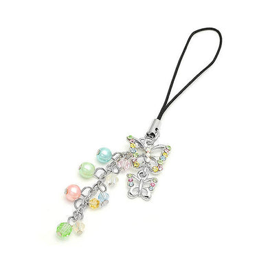 Butterfly Strap with Multi-colour Austrian Element Crystals and Multi-colour Bead