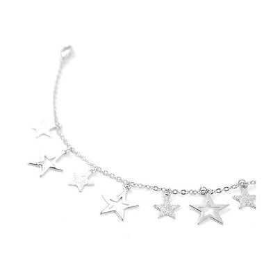 Anklet with Silver Star Charms