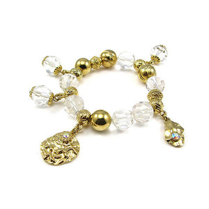Fancy Bracelet with Golden Charms