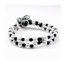 Load image into Gallery viewer, Fancy Fashion Pearl Bracelet with Silver Austrian Element Crystal