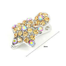 Load image into Gallery viewer, Dazzling Star Hair Clip with Orange CZ and Austrian Element Crystals (1pc)