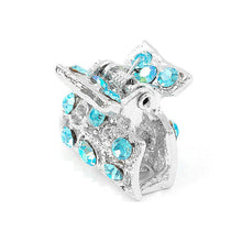 Load image into Gallery viewer, Trendy Hair Clip with Blue CZ and Austrian Element Crystals (1pc)