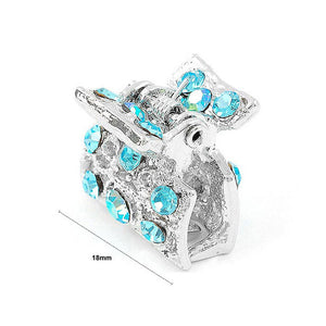Trendy Hair Clip with Blue CZ and Austrian Element Crystals (1pc)
