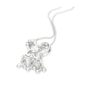 Dazzling Heart Pendant with Silver CZ and Necklace