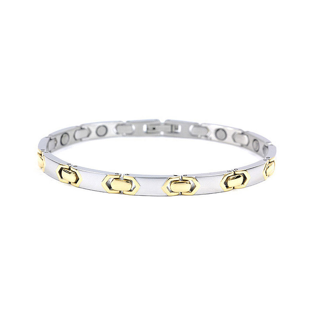 Fashion Plated Stainless Steel Bracelet (with Magnet)