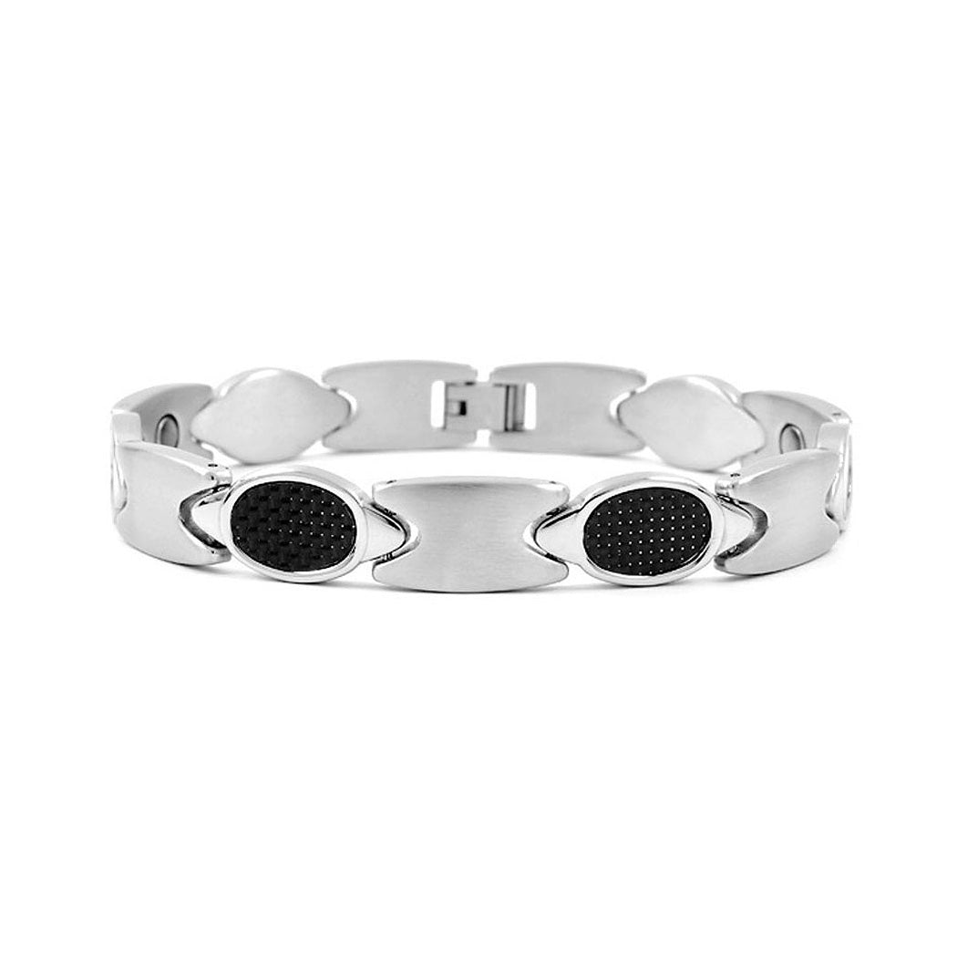 Fashion Stainless Steel Bracelet (with Carbon Fiber and Magnet)
