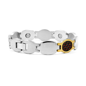 Fashion Plated Stainless Steel Bracelet (with Carbon Fiber and Magnet)