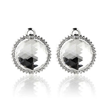 Load image into Gallery viewer, Elegant Earrings with Silver Crystal Glass and Silver Austrian Element Crystal