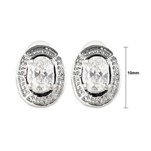 Load image into Gallery viewer, Elegant Earrings with Silver CZ Crystals