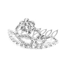 Load image into Gallery viewer, Glistering Crown Hair Pin with Silver Austrian Element Crystals