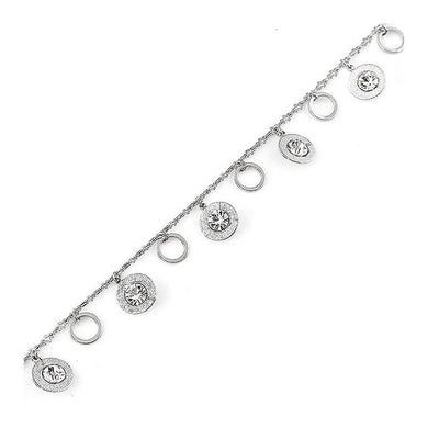 Charming Anklet with Silver Austrian Element Crystal