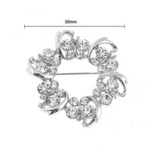 Load image into Gallery viewer, Dazzling Butterfly Garland Brooch with Silver Austrian Element Crystal