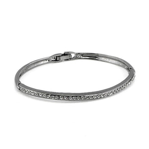 Enchanting Bangle with Grey Austrian Element Crystal