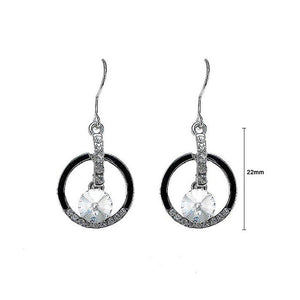 Enchanting Earrings with Silver Austrian Element Crystal