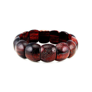 Natural Tiger's Eye Stretch Bracelet (Red)