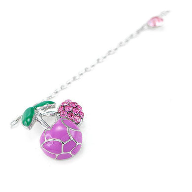 Elegant Cherry Anklet with Pink Austrian Element Crystals