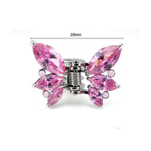Load image into Gallery viewer, Charming Butterfly Clamp with Pink Austrian Element Crystal