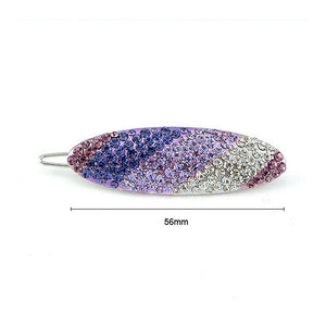 Glistering Barrette with Purple and Silver Austrian Element Crystals