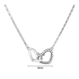 Glistering Heart Necklace with Sliver Austrian Element Crystal and Necklace