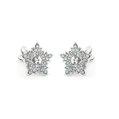 Flashing Star Earrings with Silver Austrian Element Crystal