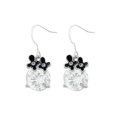 Lovely Earrings with Silver Austrian Element Crystal