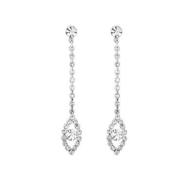 Elegant Marquise Earrings with Silver Austrian Element Crystal
