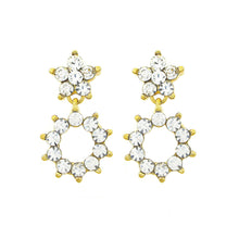 Load image into Gallery viewer, Enchanting Flowers Earrings with Silver Austrian Element Crystal
