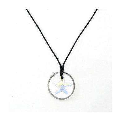Simple Star Necklace with Silver Austrian Element Crystal