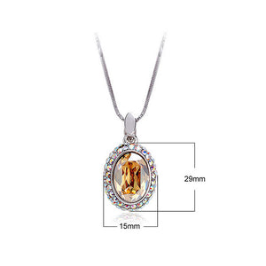Classical Full Round Pendant with Golden and Silver Austrian Element Crystals