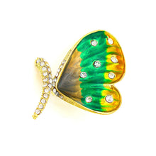 Load image into Gallery viewer, Dazzling Butterfly Brooch with Silver Austrian Element Crystal