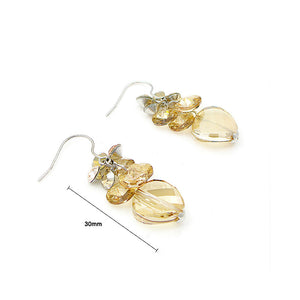 Graceful Earrings with Golden Austrian Element Crystals