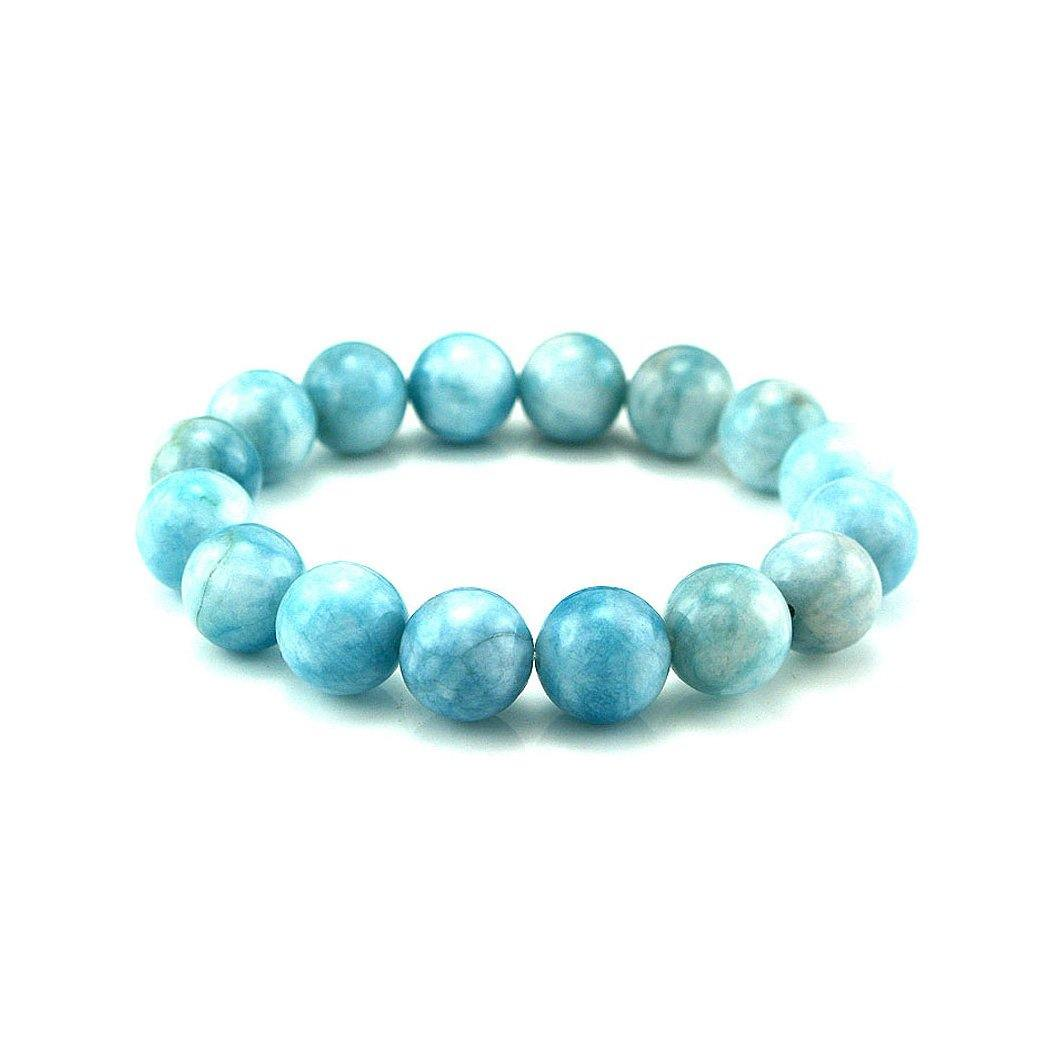 12mm Quartz Bead Bracelet