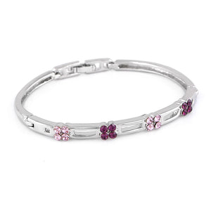 Elegant Bangle with Purple Austrian Element Crystals