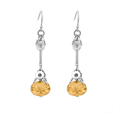 Glaring Earrings with Yellow Austrian Element Crystal