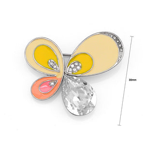 Shimmering Butterfly Brooch with Silver Austrian Element Crystal