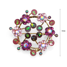 Load image into Gallery viewer, Gleaming Wreath Brooch with Purple Austrian Element Crystal