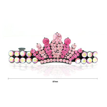 Load image into Gallery viewer, Glistering Crown Barrette with Pink Austrian Element Crystal