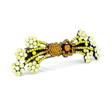 Load image into Gallery viewer, Glistering Flower Cluster Barrette with Orange and Yellow Austrian Element Crystals