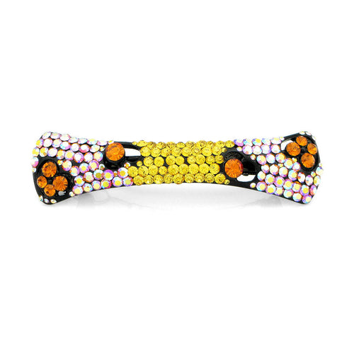 Charming Barrette with Orange and Yellow Austrian Element Crystals