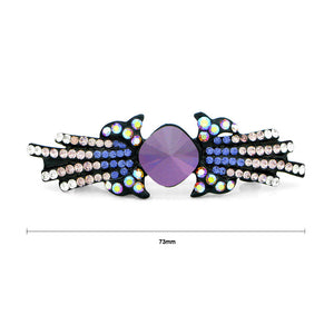 Charming Barrette with Purple and Silver Austrian Element Crystals