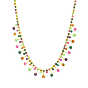 Stylish Necklace with Multi Color Austrian Element Crystals