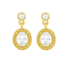 Load image into Gallery viewer, Gleaming Oval Earrings with Austrian Element Crystals
