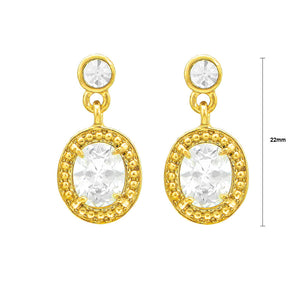 Gleaming Oval Earrings with Austrian Element Crystals