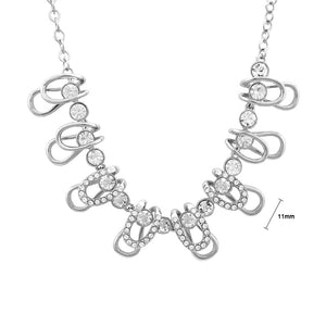 Stylish Necklace with Silver Austrian Element Crystals