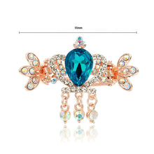Load image into Gallery viewer, Elegant Crown Blue Crystal Hair Clamp