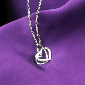 925 Sterling Silver Heart Shaped Pendant with Necklace